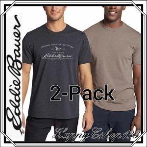 Eddie Bauer Men's Graphic & Crew Tee, 2-Pack